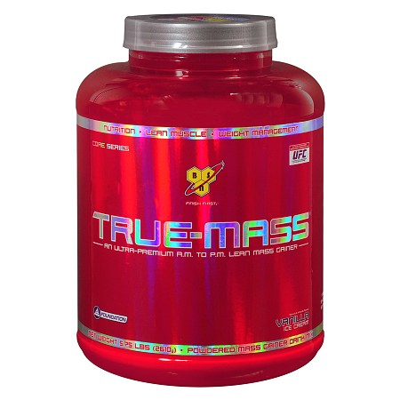 BSN Inc. True-Mass Powdered Mass Gainer Drink Mix Vanilla Ice Cream - 92 oz.