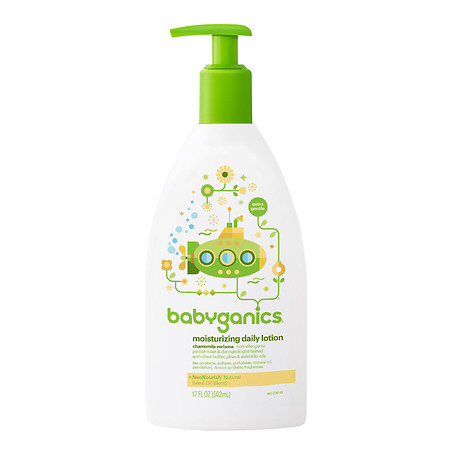 Babyganics Smooth Moves Extra Gentle Daily Lotion Chamomile Verbena - 17 oz.