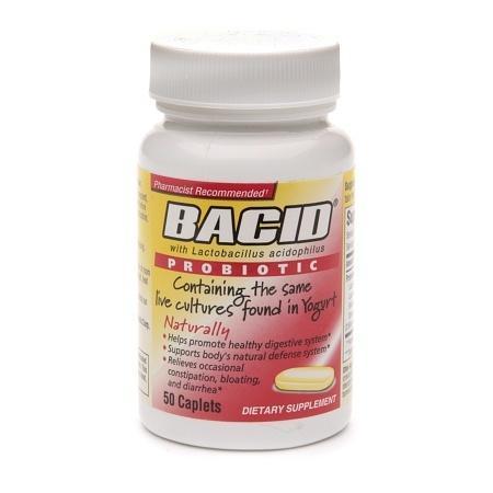 Bacid Probiotic, Caplets - 50 ea