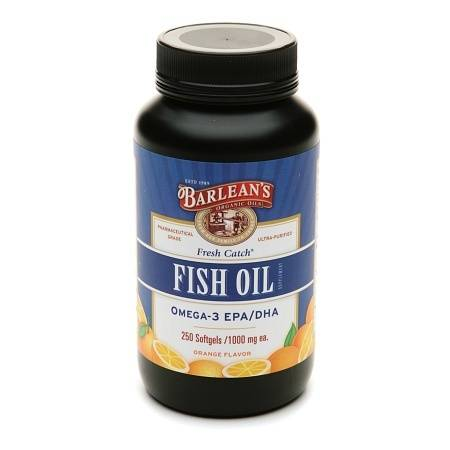 Barlean's Organic Oils Fresh Catch Fish Oil Omega-3 EPADHA 1000mg Softgels Orange - 250 ea