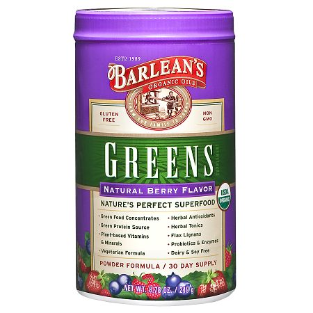 Barlean's Organic Oils Greens Berry - 8.78 oz.