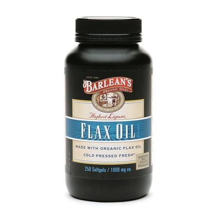 Barlean's Organic Oils Highest Lignan Content Cold Pressed Flax Oil, Capsules - 250 ea