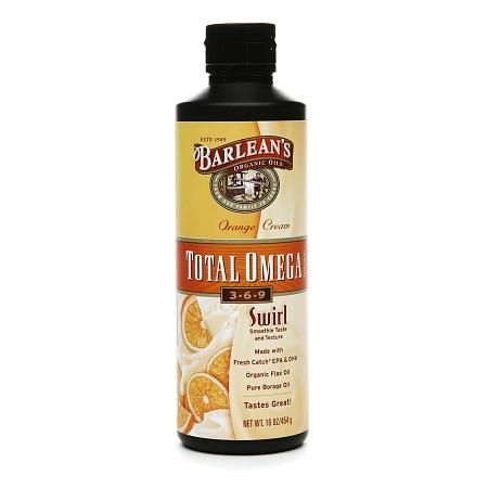 Barlean's Organic Oils Total Omega 3-6-9 Swirl Orange Cream - 16 fl oz