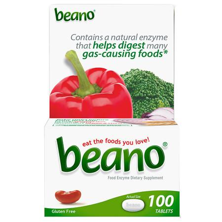 Beano Food Enzyme Dietary Supplement Tablets - 100 ea