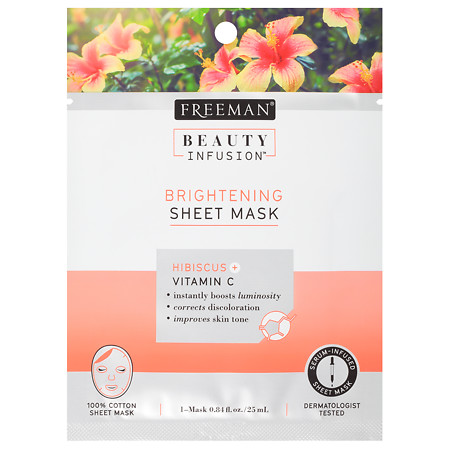 Beauty Infusion BRIGHTENING Hibiscus & Vitamin C Sheet Mask - 0.84 oz.