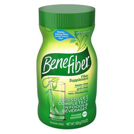 Benefiber Non-Thickening Powder, Sugar Free Unflavored, 125 dose - 18 oz.