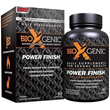 BioXgenic Power Finish Male Performance, Capsules - 60 ea