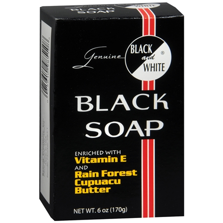 Black and White Black Soap - 6 oz.