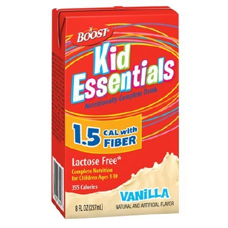 Boost Kid Essentials 1.5 Cal Medical Nutritional Drink with Fiber Vanilla - 8 oz.