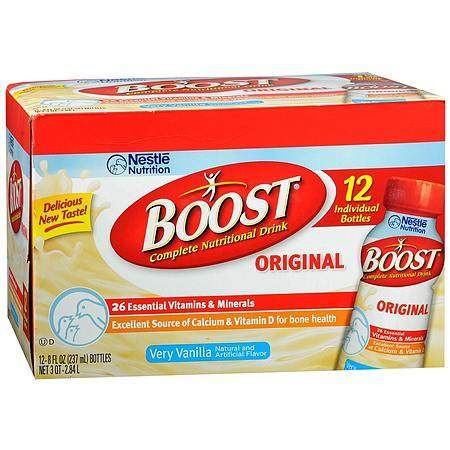 Boost Original Complete Nutritional Drink Very Vanilla - 8 oz.