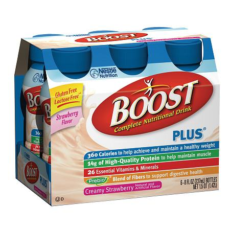 Boost Plus Complete Nutritional Drink Creamy Strawberry - 8 oz.