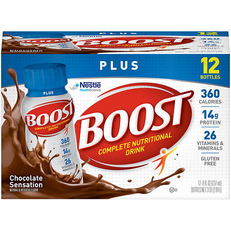 Boost Plus Complete Nutritional Drink Rich Chocolate - 8 oz.
