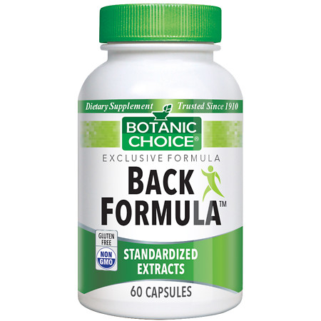 Botanic Choice Back Formula Dietary Supplement Capsules - 60 ea.