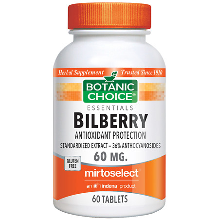 Botanic Choice Bilberry 60 mg Dietary Supplement Tablets - 60 ea.