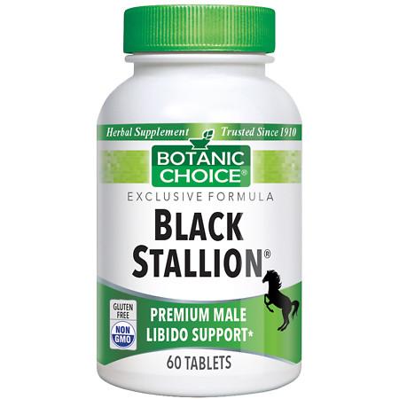 Botanic Choice Black Stallion Male Libido Herbal Supplement Tablets - 60 ea.