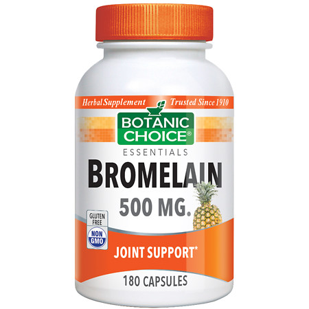 Botanic Choice Bromelain 500 mg Herbal Supplement Capsules - 180 ea.