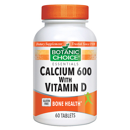 Botanic Choice Calcium 600 with Vitamin D Dietary Supplement Tablets - 60 ea
