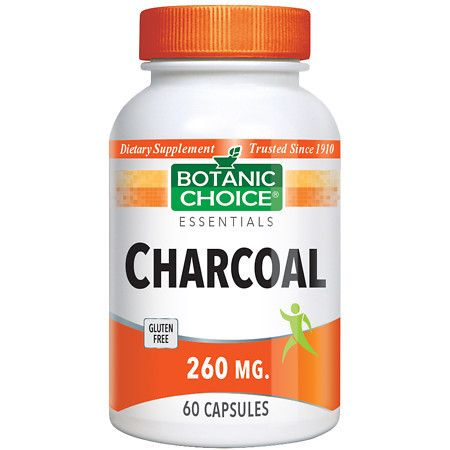 Botanic Choice Charcoal 260 mg Dietary Supplement Capsules - 60 ea.
