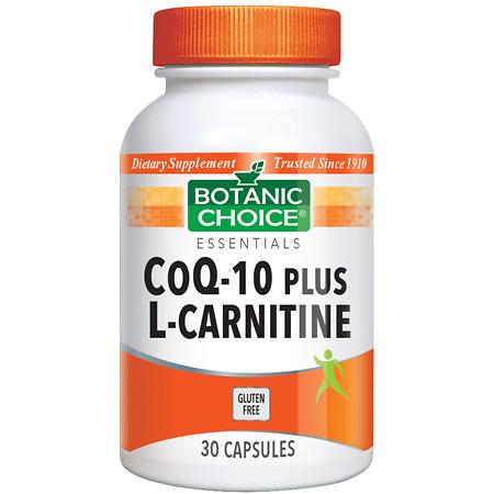 Botanic Choice CoQ10 plus L-Carnitine Dietary Supplement Capsules - 30 ea.