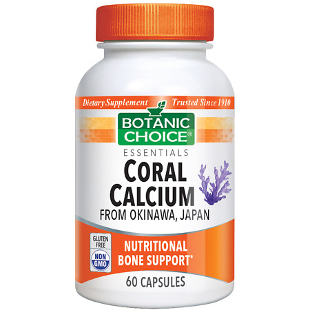 Botanic Choice Coral Calcium Dietary Supplement Capsules - 60 ea.