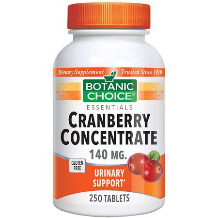 Botanic Choice Cranberry Concentrate 140 mg Dietary Supplement Tablets - 250 ea.