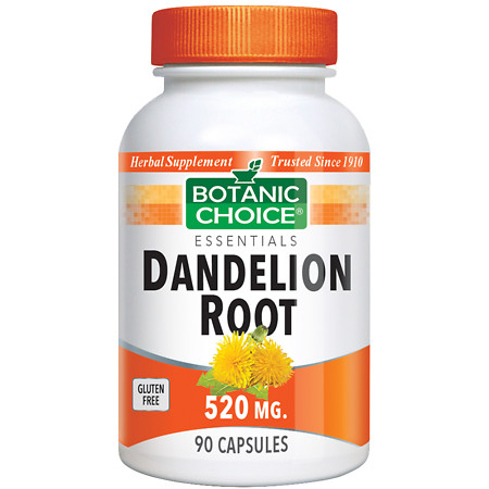 Botanic Choice Dandelion Root 520 mg Herbal Supplement Capsules - 90 ea.