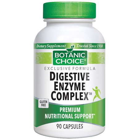 Botanic Choice Digestive Enzyme Complex Dietary Supplement Capsules - 90 ea.