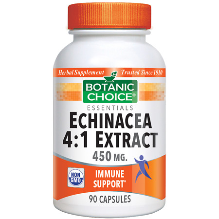 Botanic Choice Echinacea 4:1 Extract 450 mg Herbal Supplement Capsules - 90 ea.
