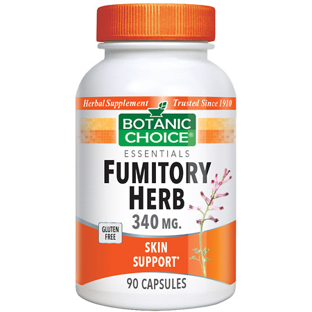 Botanic Choice Fumitory Herb 340 mg Herbal Supplement Capsules - 90 ea.