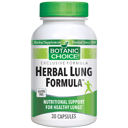 Botanic Choice Herbal Lung Formula Herbal Supplement Capsules - 30 ea.