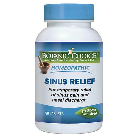Botanic Choice Homeopathic Sinus Relief Formula, Tablets - 90 ea