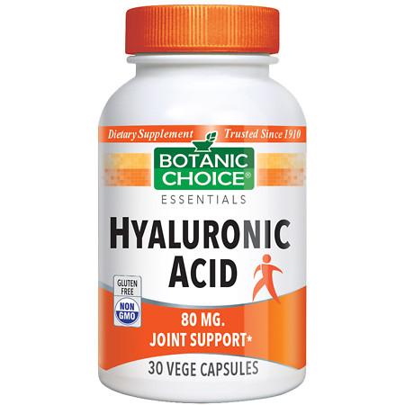 Botanic Choice Hyaluronic Acid 80 mg Herbal Supplement Capsules - 30 ea.