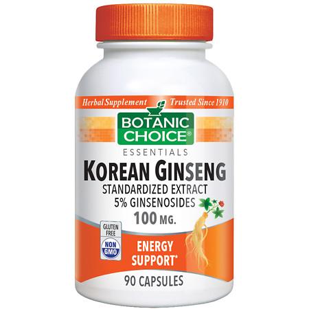 Botanic Choice Korean Ginseng 100 mg Herbal Supplement Capsules - 90 ea.