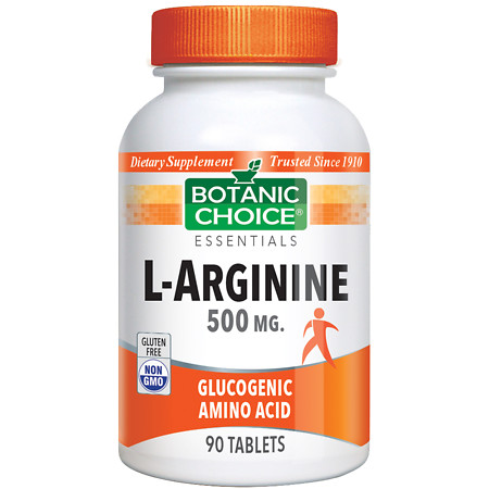 Botanic Choice L-Arginine 500 mg Dietary Supplement Tablets - 90 ea.