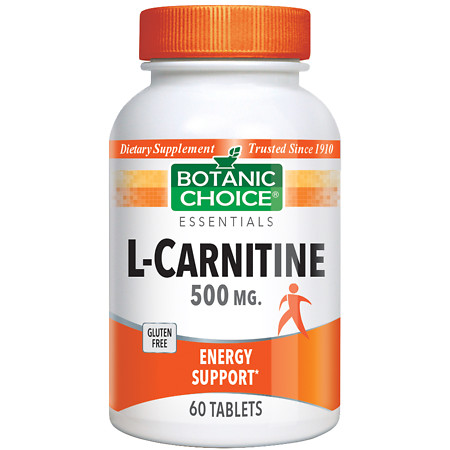 Botanic Choice L-Carnitine 500 mg Dietary Supplement Tablets - 60 ea.
