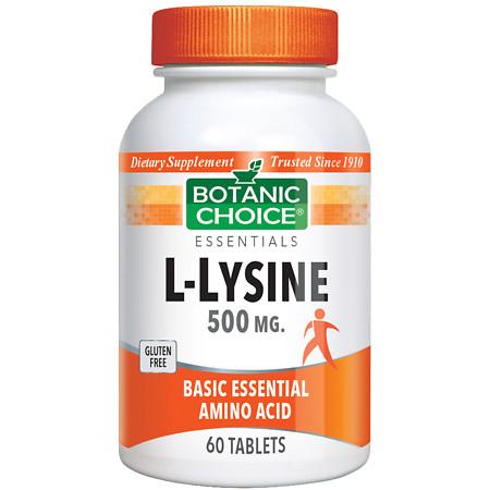 Botanic Choice L-Lysine 500 mg Dietary Supplement Tablets - 60 ea.