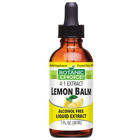 Botanic Choice Lemon Balm Herbal Supplement Liquid - 1 oz.
