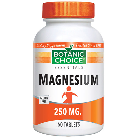 Botanic Choice Magnesium Oxide 250 mg Dietary Supplement Tablets - 60 ea.