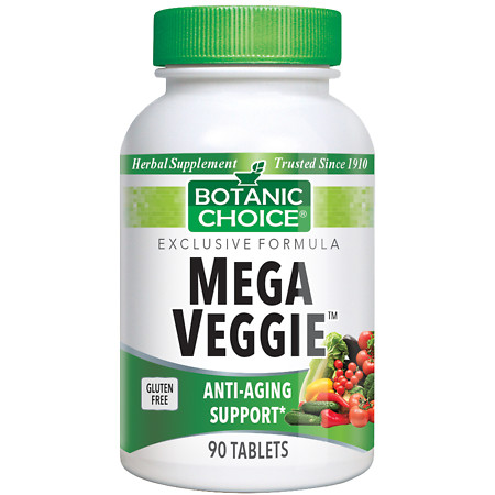 Botanic Choice Mega Veggie Herbal Supplement Tablets - 90 ea.