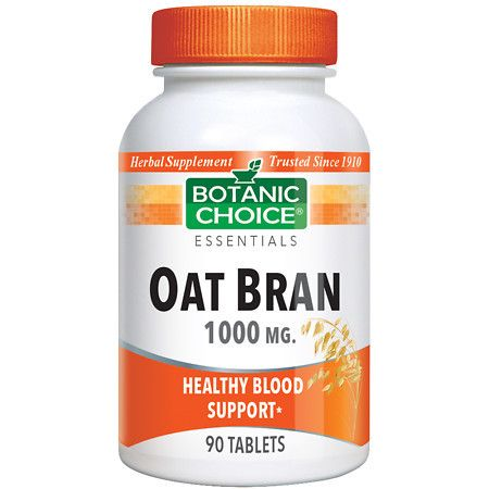 Botanic Choice Oat Bran 1000 mg Herbal Supplement Tablets - 90 ea.