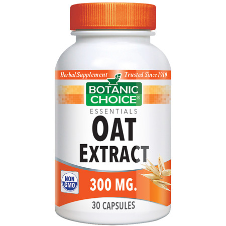 Botanic Choice Oat Extract 300 mg Herbal Supplement Capsules - 30 ea.