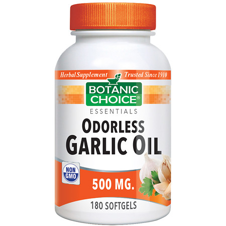 Botanic Choice Odorless Garlic Oil 500 mg Herbal Supplement Softgels - 180 ea.
