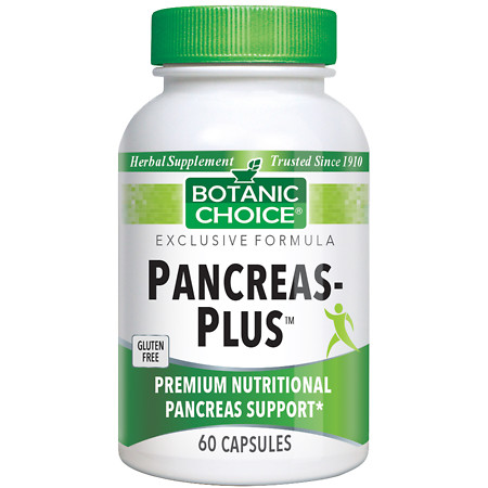 Botanic Choice Pancreas-Plus Dietary Supplement Capsules - 60 ea.