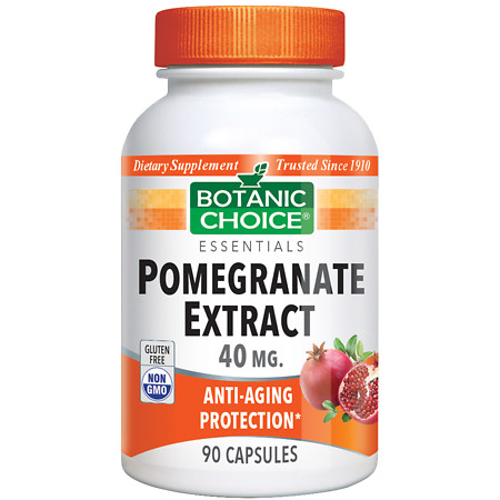 Botanic Choice Pomegranate Extract 40 mg Dietary Supplement Capsules - 90 ea.