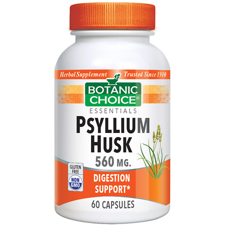 Botanic Choice Psyllium Husk 560 mg Herbal Supplement Capsules - 60 ea.