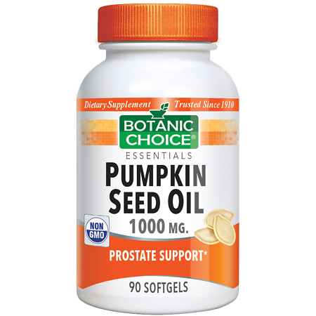 Botanic Choice Pumpkin Seed Oil 1000 mg Dietary Supplement Softgels - 90 ea.