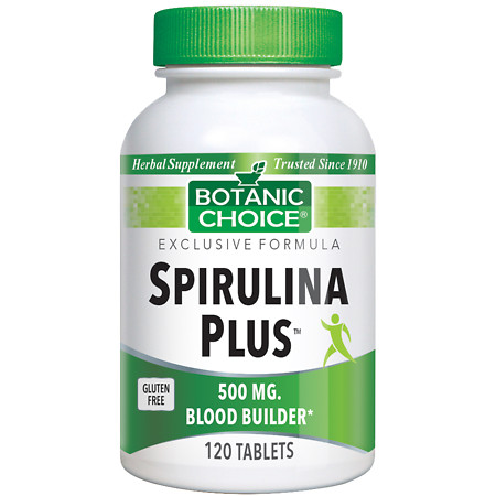 Botanic Choice Spirulina Plus 500 mg Herbal Supplement Tablets - 120 ea.