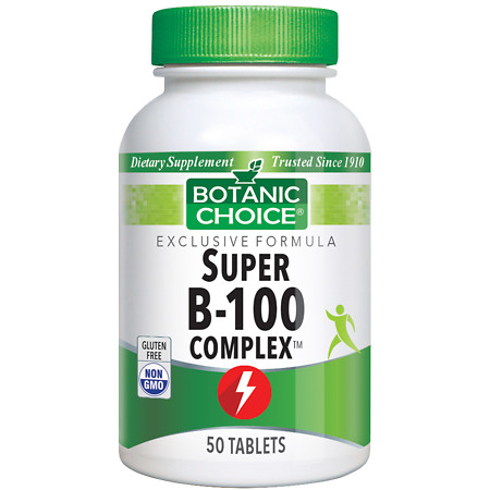 Botanic Choice Super B-100 Complex Dietary Supplement Tablets - 50 ea.