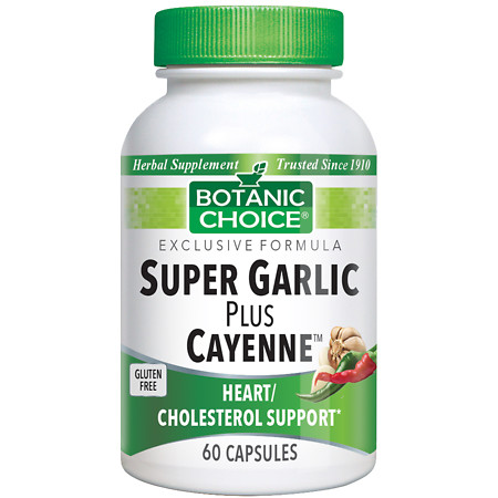 Botanic Choice Super Garlic plus Cayenne Herbal Supplement Capsules - 60 ea.