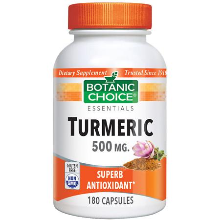Botanic Choice Turmeric 500 mg Herbal Supplement Capsules - 180 ea.